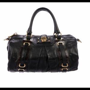MARC JACOBS Vintage Black Pleated Leather Bag